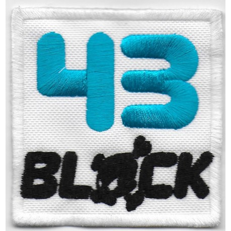 0884 Embroidered patch 7x7  nº 43 KEN BLOCK