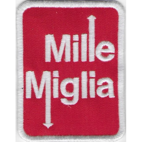 1207 Embroidered patch 8x6 1000 MIGLIA