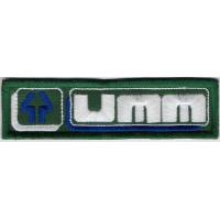 2343 Parche emblema bordado 11X3 UMM União Metalo-Mecânica