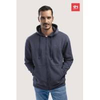 2358 Men's sweat hooded jacket THC AMSTERDAM full zip