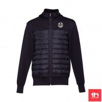 2368 Men's jacket THC SKOPJE full zip hooded PERSONALIZED WITH ONE PATCH