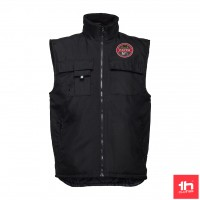 2369 Workwear padded bodywarmer THC STOCKHOLM PERSONALIZED WITH ONE PATCH