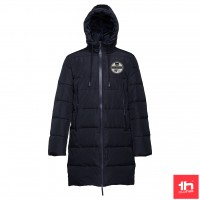 2370 UNISEX PADDED LONG PARKA THC BRUSSELS PRESONALIZED WITH ONE PATCH