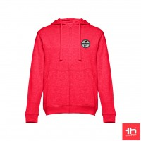 2373 Men's sweat hooded jacket THC AMSTERDAM full zip PERSONALIZED WITH ONE PATCH