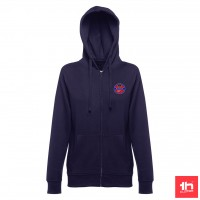 2374 WOMEn's sweat hooded jacket THC AMSTERDAM WOMAN full zip PERSONALIZED WITH ONE PATCH