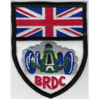 2387 Embroidered patch 8x6 BRDC British Racing Drivers' Club