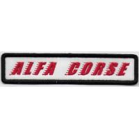 2390 Embroidered patch 12x3 ALFA CORSE ALFA ROMEO