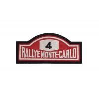 1922 Patch emblema bordado 10x4 RALLYE MONTE CARLO 4