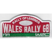 2409 Patch écusson brodé 10x4 WALES RALLY GB - RALLY OF LEGENDS