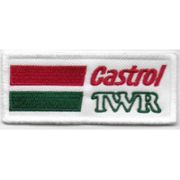 2410 Patch écusson brodé 10x4 TEAM CASTROL TWR JAGUAR
