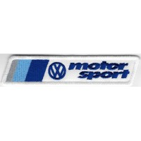2411 Embroidered patch 12x3 VW VOLKSWAGEN MOTORSPORT