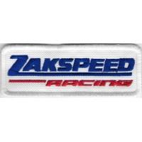 2413 Patch écusson brodé 9X3 ZAKSPEED RACING TEAM