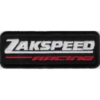 2413 Embroidered patch 9X3 ZAKSPEED RACING TEAM