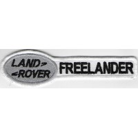 2417 Embroidered patch 11X3 LAND ROVER FREELANDER white