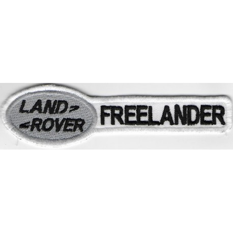 2416 Embroidered patch 11X3 LAND ROVER EVOQUE white