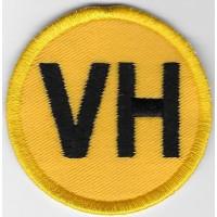 2420 Patch emblema bordado 6X6 PLACA VH VEHICULO HISTORICO ESPANHA
