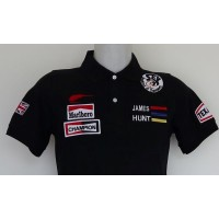 1191 polo JAMES HUNT MCLAREN SEX BREAKFAST OF CHAMPION Premium Quality