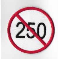 2449 Embroidered patch 6X6 SPEED LIMIT 250