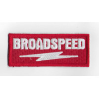 2466 Embroidered patch 10x4  BROADSPEED Engineering Ltd