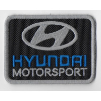 2524 Embroidered patch 8x6 HYUNDAI MOTORSPORT