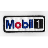 0074 Embroidered patch 10x4 MOBIL 1