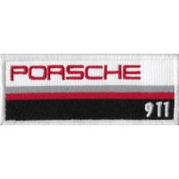 1056 Patch écusson brodé 10x4 PORSCHE 911 50 ANS