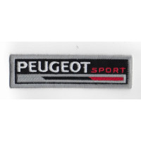 2527 Embroidered sew on patch 11X3 PEUGEOT SPORT
