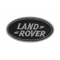 0030 Embroidered patch 9x5 LAND ROVER grey