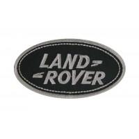 0030 Patch écusson brodé 9x5 LAND ROVER gris