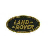 0032 Patch emblema bordado 9x5 LAND ROVER dourado