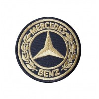 0438 Patch emblema bordado 7x7 MERCEDES BENZ 1926 ouro