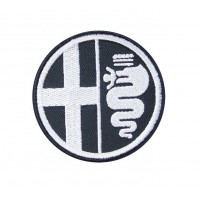 0447 Parche emblema bordado 7x7 ALFA ROMEO