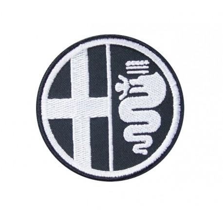 Patch emblema bordado 7x7 ALFA ROMEO