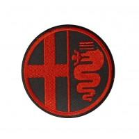 0448 Parche emblema bordado 7x7 ALFA ROMEO