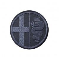 0449 Parche emblema bordado 7x7 ALFA ROMEO