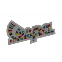 0462 Embroidered patch sew on 7x4 Piaggio Vespa