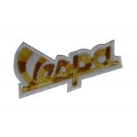 0466 Embroidered patch sew on 7x4 Piaggio Vespa