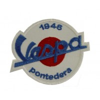 0475 Embroidered patch sew on 9x7 Vespa PONTEDERA 1946