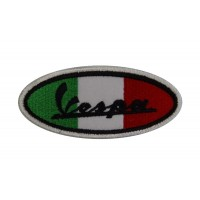 0477 Embroidered patch sew on 10x4 Vespa ITALY