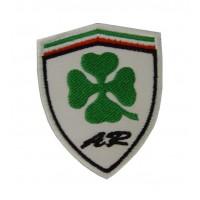 0841 Parche emblema bordado 5x7 ALFA ROMEO