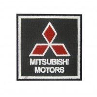 0489 Embroidered patch 7x7 Mitsubishi Motors