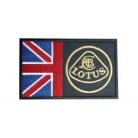 0492 Patch emblema bordado 10x6 LOTUS UK FLAG UNION JACK
