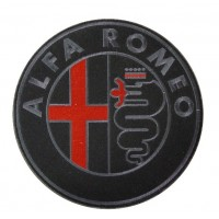 0495 Patch emblema bordado 22x22 ALFA ROMEO