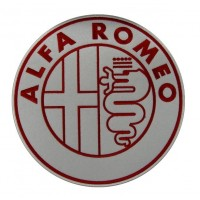0496 Patch emblema bordado 22x22 ALFA ROMEO
