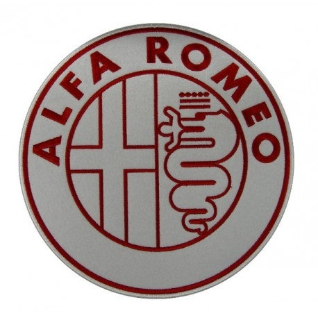 Embroidered patch 22x22 ALFA ROMEO