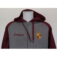 2768 PORSCHE STUTTGART EDITION Unisex two-tone zipped hooded fleece jacket  Proact