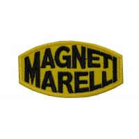 0344 Embroidered patch 8x4 MAGNETI MARELLI yellow
