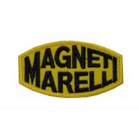 0344 Patch écusson brodé 8x4 MAGNETI MARELLI jaune