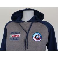 2772 BMW MOTORSPORT Unisex two-tone zipped hooded fleece jacket  Proact