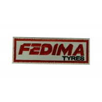 Patch emblema bordado 10x4 FEDIMA TYRES